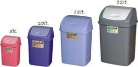 İtme Kapaklı Plastik Çöp Kova Çeşitleri