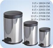 Paslanmaz Pedallı Çöp Kova Çeşitleri